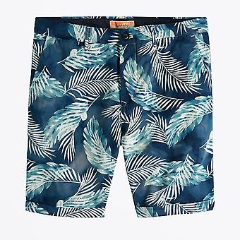 Scotch & Soda  - Palm Printed Shorts - Blue/Green