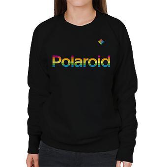 Polaroid Rainbow logo naisten ' s College pusero