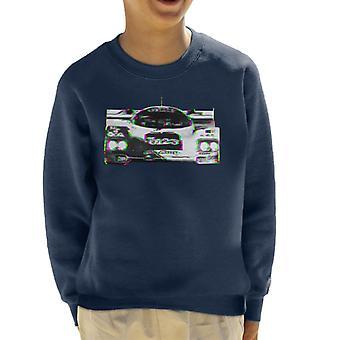 Motorsport Images Hurley Haywood 962 Daytona Glitch Effect Kid's Sweatshirt
