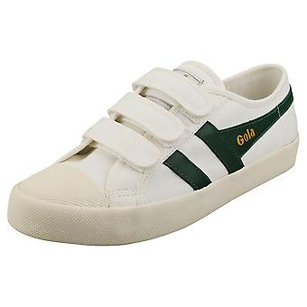 Gola Coaster Womens Fashion Trainers in Off White Green