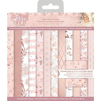 Crafter's Companion Rose Gold 6 x6 Inch Paper Pad