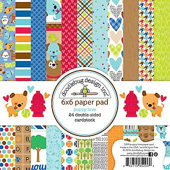 Doodlebug Design Puppy Love 6x6 Inch Paper Pad