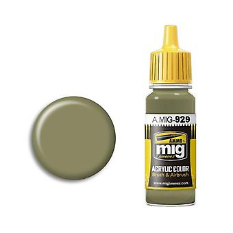 Ammo by Mig Acrylic Paint - A.MIG-0929 Olive Drab  Shine (17ml)