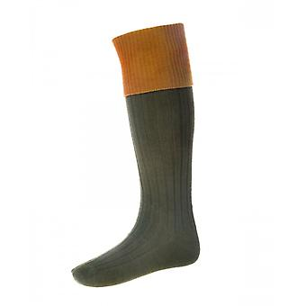 House of Cheviot Country Socks Lomond ~ Spruce & Ochre