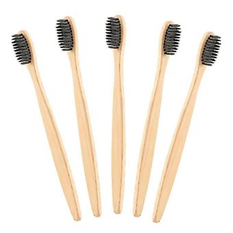 Brosse à dents en bambou de charbon de bois environnemental pour la santé buccodentaire - bas carbone, moyen