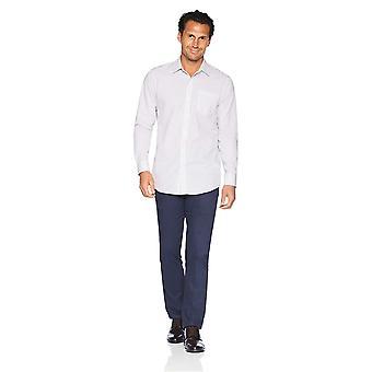 Essentials Men's Slim-Fit Wrinkle-Resistant Camicia Abito a maniche lunghe, P...
