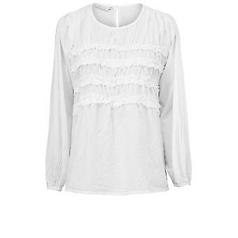 Masai Clothing Badotna White Filled Blouse