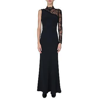 Alexander Mcqueen 623947qeaaa1000 Women's Black Viscose Dress