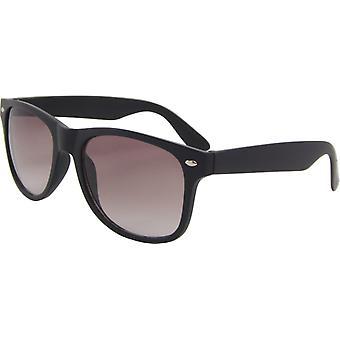 Sonnenbrille Unisex  wayfarer cat. 3 matt schwarz/braun (15-125-C)
