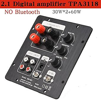 Speakers 2.1 Live Speaker Amplifier Board Tpa3118 Audio 30w*2 +60w Sub Amp With Independent 2.0 Output