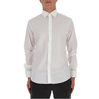 Z Zegna 805100zcsc2g Men'camisa de algodão branco