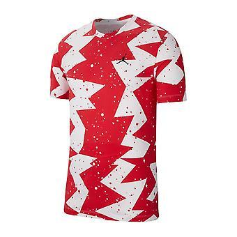 Nike Jordan Printed Poolside CJ6215687 uniwersalny przez cały rok męski t-shirt