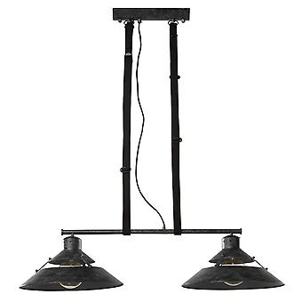Ceiling 2 Light 2x40W E27, Oxide Metal, Black Belt