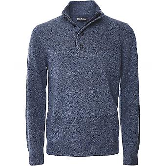Barbour Lambswool Half-Zip Patch Jumper