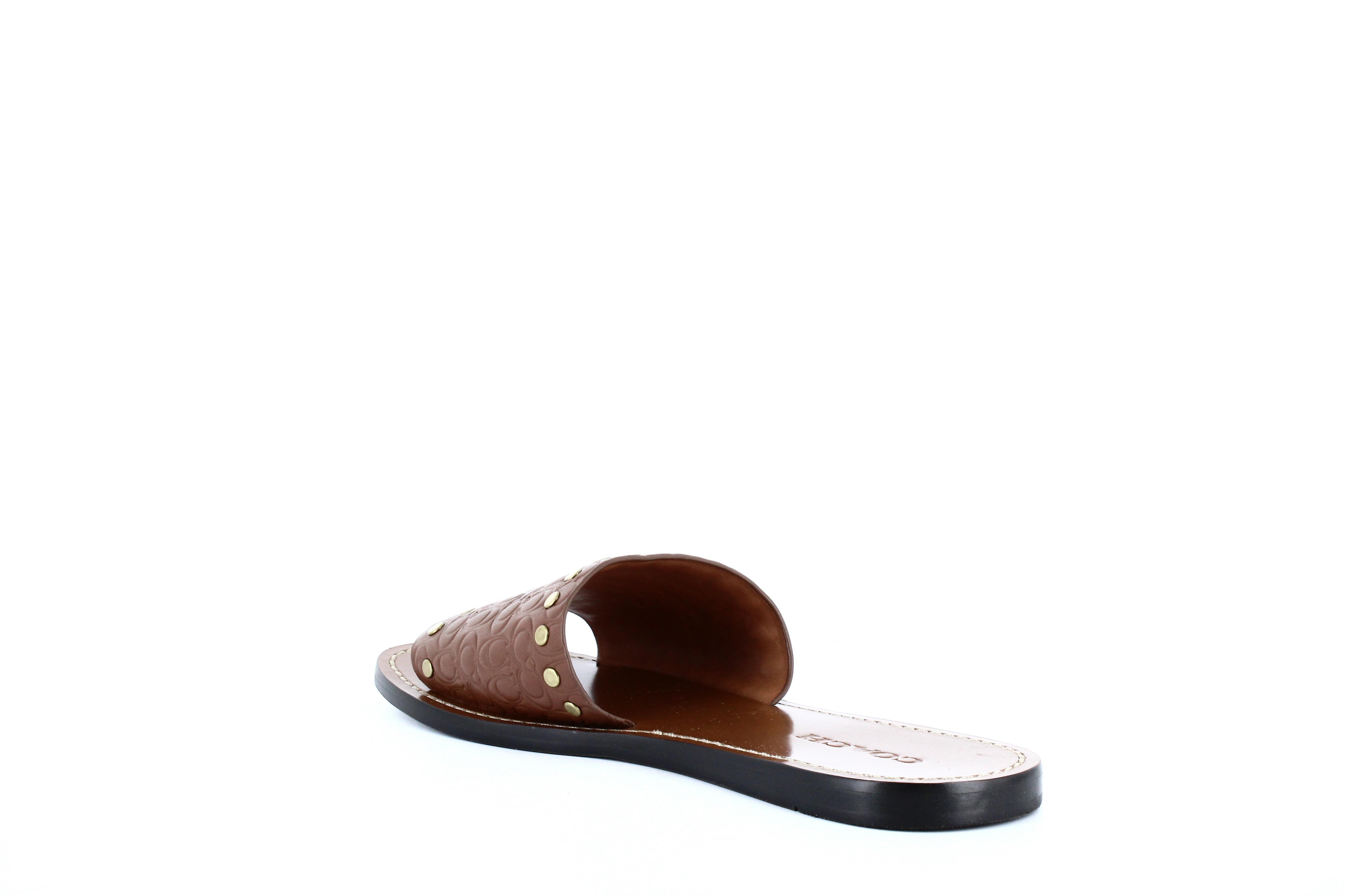 Coach | Slide Sig Leather Sandals