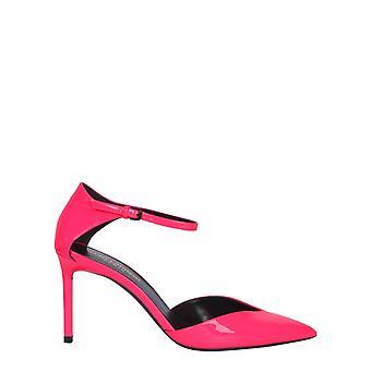 Saint Laurent 5944381f0005616 Women's Fuchsia Patent Leather Sandals