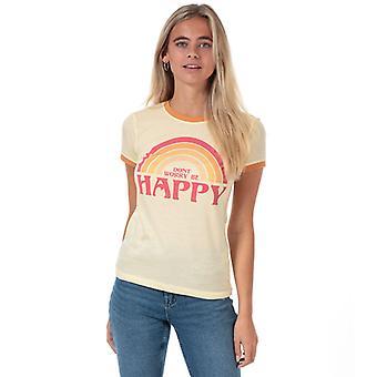 Women's Brave Soul Be Happy T-paita oranssi