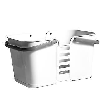 Bærbare plast badning og vask kurv grå