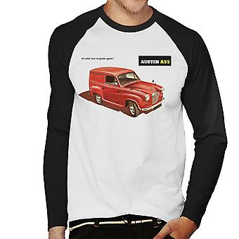 Austin A35 Goods Space British Motor Heritage Men's Baseball Long Sleeved T-Shirt
