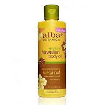 Alba Botanica Hawaiian Kukui Nut Organic Massage Oil, 8.5 fl oz