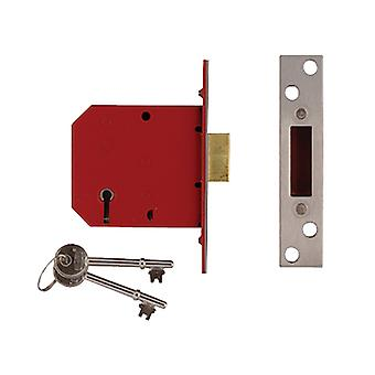 Union 2101 5 Alavanca Mortice Deadlock Brass Acabamento 77.5mm 3in Visi