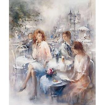 Terrace Poster Print by Willem Haenraets