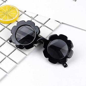 Stilige barn gutter jenter retro runde Uv400 solbriller briller mote
