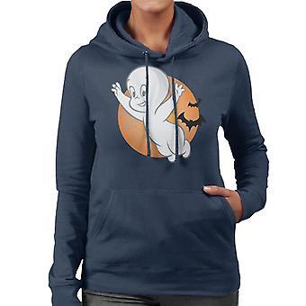 Casper The Friendly Ghost Moon Flying Women's Hooded Sweatshirt