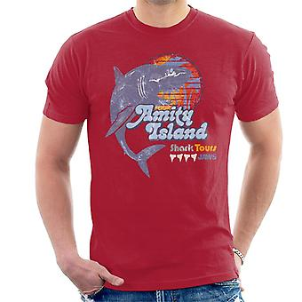 Jaws Amity Island Shark Tours Logo Men's T-Shirt