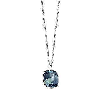 Elementos plata de ley plata señoras P3786L graphic Facet Denim cristal azul por Swarovski® collar: longitud 51cm