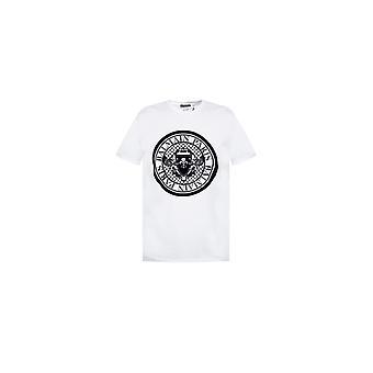 Balmain Paris Balmain Crew Neck T Shirt Th11135