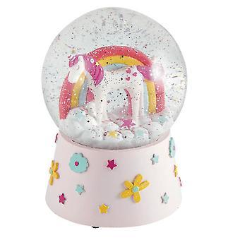 Childrens Unicorn musical snow globe