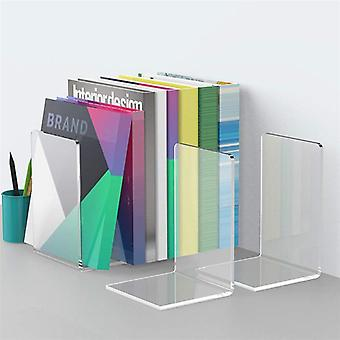 Adorable Bookends, Concise Bookstand, Acrylic Book Rack For Home Office, Shop