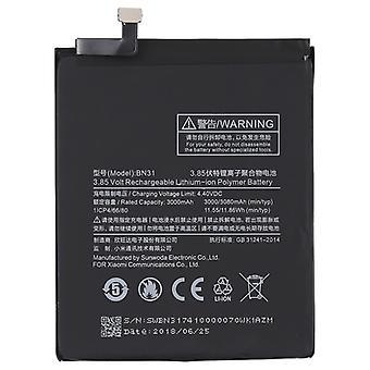3000mAh לי פולימר סוללה BN31 עבור Xiaomi Mi 5X / הערה 5A