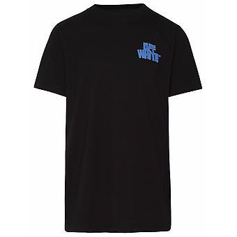 Off-white Omaa027r21jer0051040 Männer's schwarze Baumwolle T-shirt