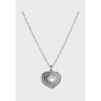 Kalevala Necklace Adjustable 42/45cm Eura Heart Silver 2210951
