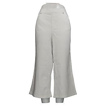 Belle af Kim Gravel Kvinder's Jeans Flexibelle Gaucho Hvid A378624