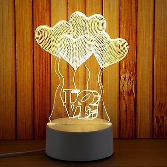 Lampe de nuit 3d Plate Led Novelty Illusion