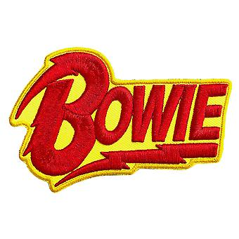 David Bowie Patch Diamond Dogs 3D Logo ny offisiell