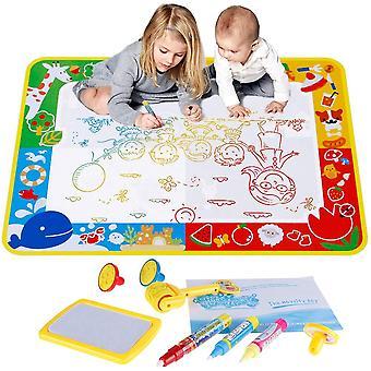 Anpro dywanik do rysowania wody 70 * 100cm - mata do doodle wody z 3 długopisamiÔºå3 znaczki , 1 rysunek - drawin