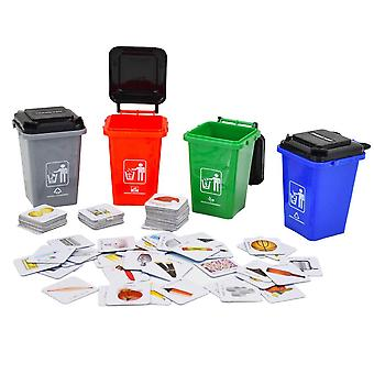 Deao recycling classification board game set – great educational activity for children and family