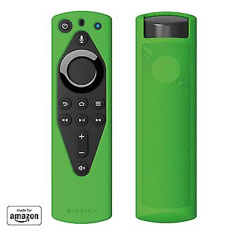 Mission remote case for the all-new fire tv voice remote (2018 version), irish green