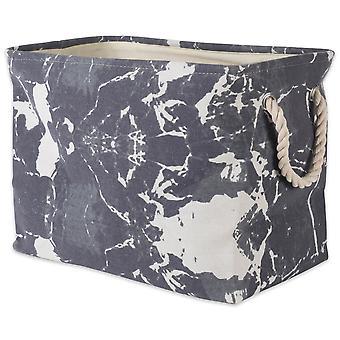 Dii Polyester Bin Marble Rettangolo nero Medio