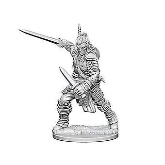 Pathfinder Deep Cuts Miniatures Non peintes Human Male Fighter W1 (Pack de 6)