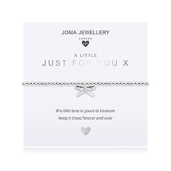 Joma Jewellery A Little Just For You X Silver 15.5cm Stretch Bracelet C484