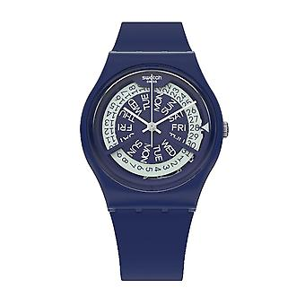Swatch Gn727 N-igma Navy Silicona Watch