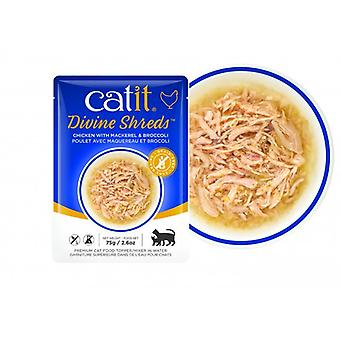 Catit Divine Shreds Chicken/Cabbage & Broccoli Soup (Cats , Cat Food , Wet Food)