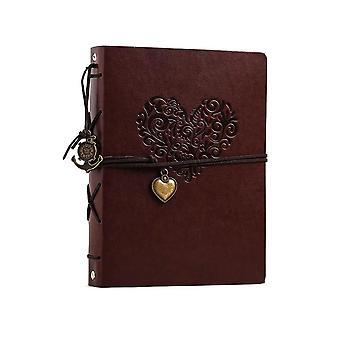 FotoAlbum Vintage Leder Scrapbook Hochzeit Gast Diy Erinnerungen Buch