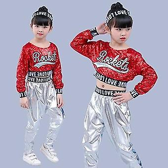 Girls Modern Dancing Costumes Clothing Suits Kids's Hip Hop Dance Wear Outfits