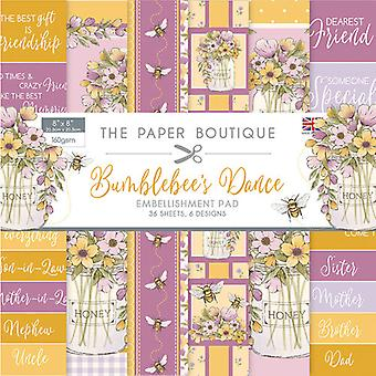 The Paper Boutique - Bumblebee's Dance Collection - 8x8 Embellishments Pad